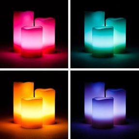 Colored flameless candles 3