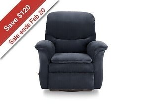Dark blue recliner