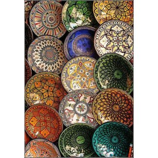 Decorative ceramic wall plates
