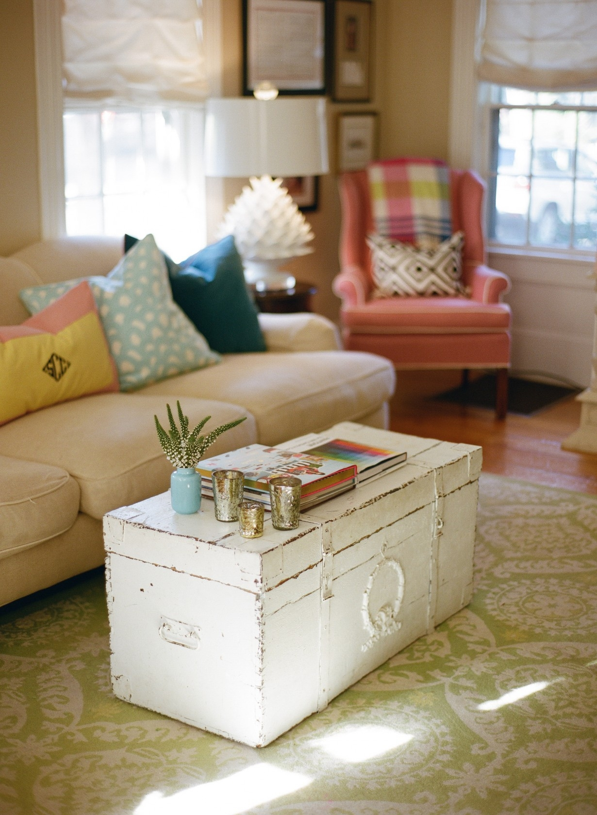 Marvelous Distressed Trunk Coffee Table