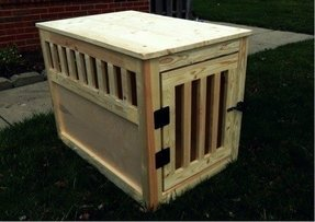 Dog cage end table