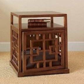 Dog crate end table 3