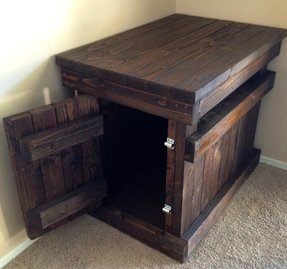 dog crate nightstand designed for indoors this beautiful piece of furniture - Wooden Dog Crate End Tables