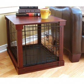 Dog kennel end table plans
