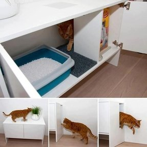 Enclosed cat litter box furniture 1