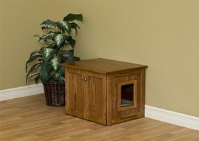 Enclosed cat litter box furniture 2