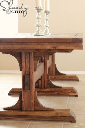 Farm dining table with bench