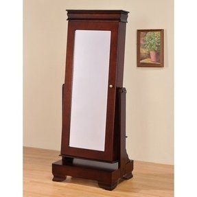 Floor standing jewelry armoire with base