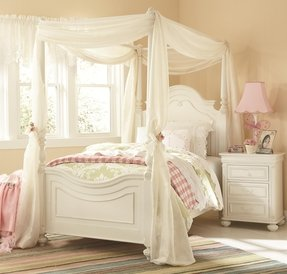 Four poster twin bed frame