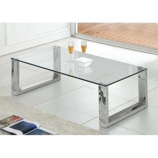 Glass Chrome Coffee Table 7