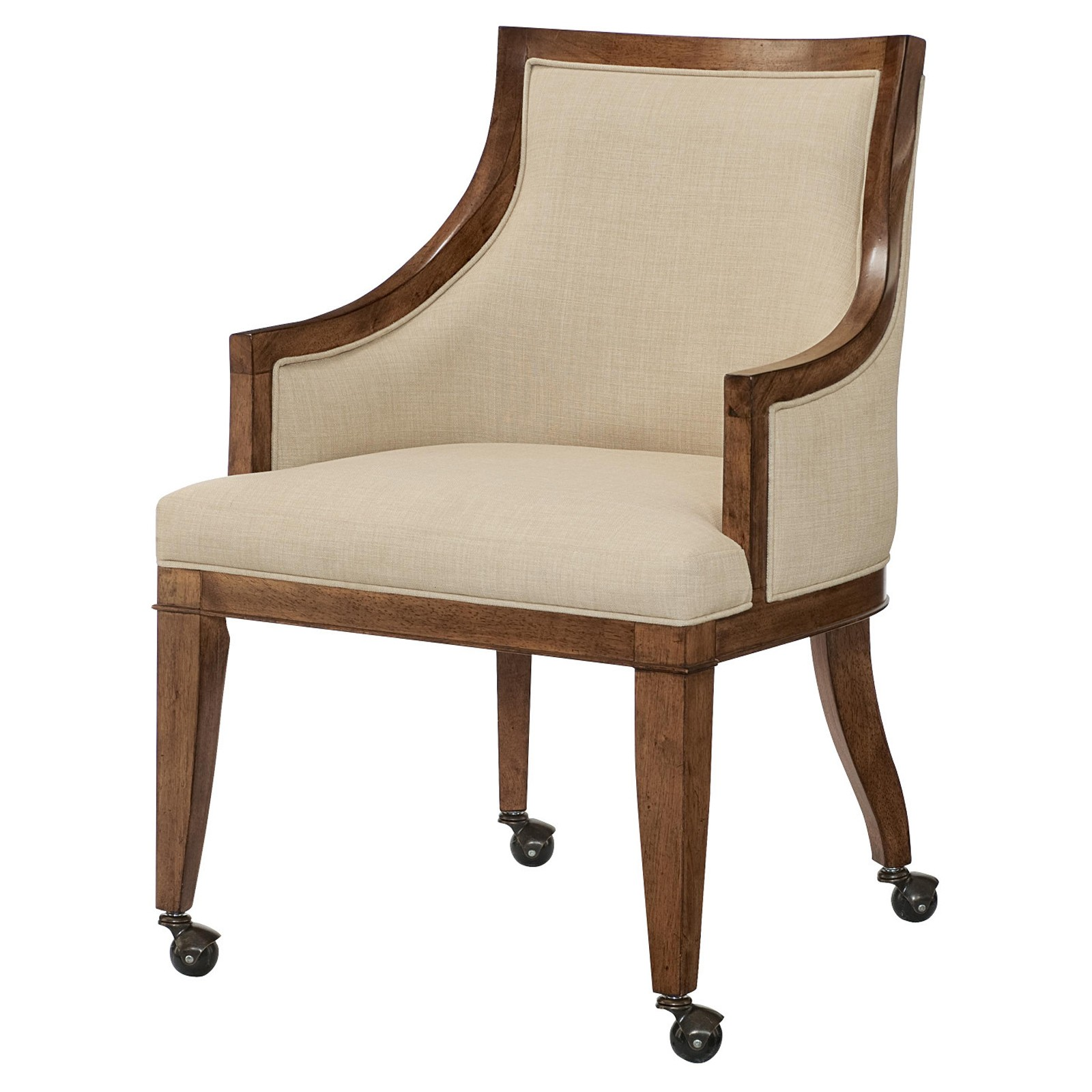 Exceptionnel Grove Point Upholstered Dining Arm Chair With Casters