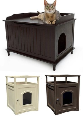 Hiding cat litter box