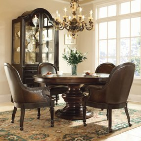 Hillsdale Grand Bay 5 Piece Round Dining Room Chairs With