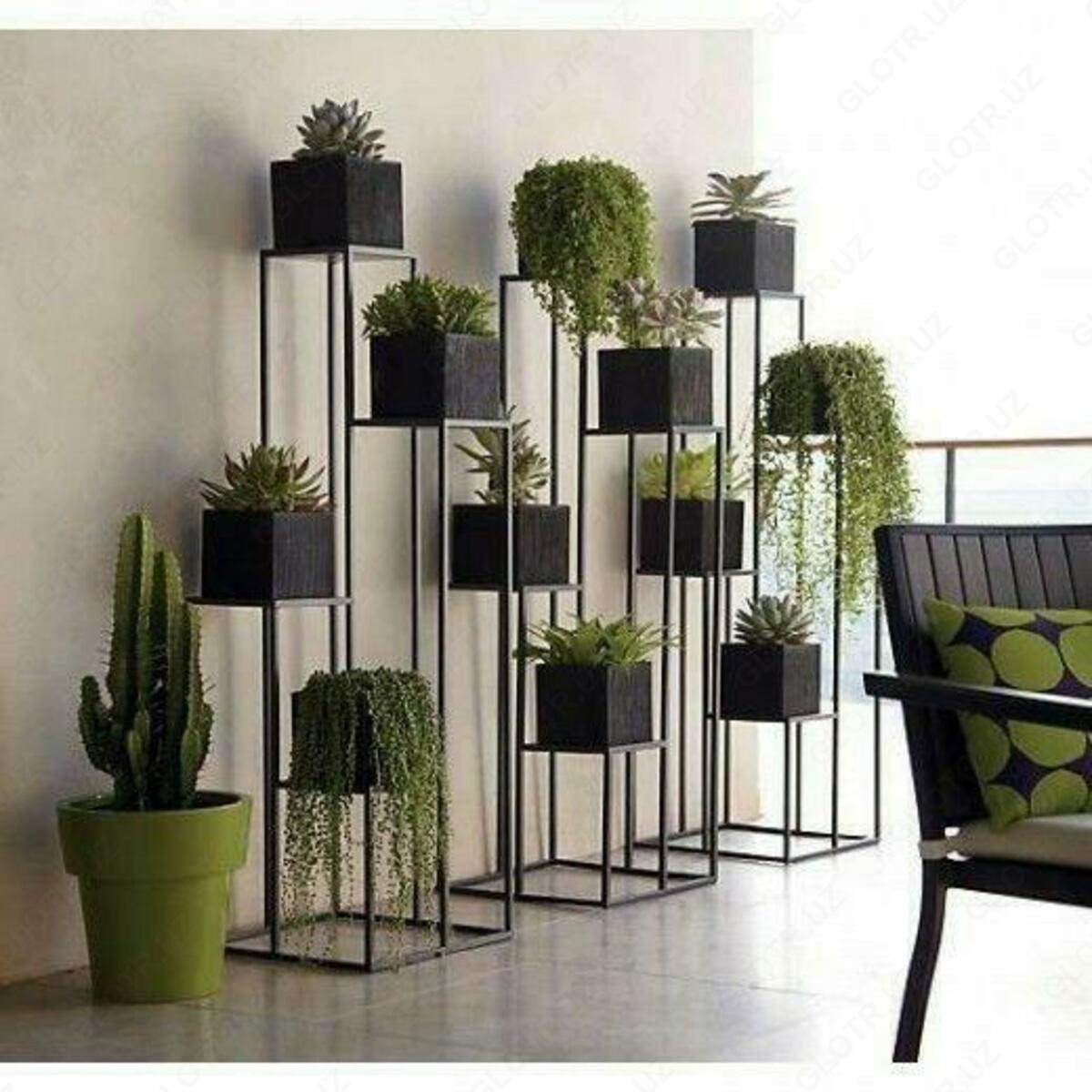 Delightful Indoor Tiered Plant Stand