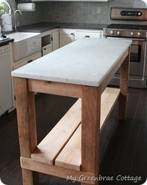 Marble Top Kitchen Island Cart Foter - The orleans kitchen island with marble top