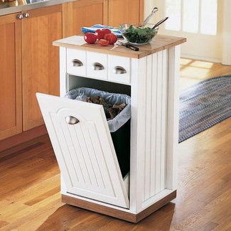 Kitchen Island With Garbage Bin Foter - Kitchen island with garbage bin