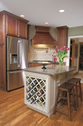 Kitchen Island With Wine Rack - Foter