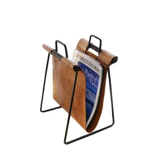 Ldc home iron leather magazine rack