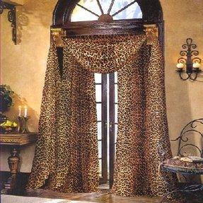 Leopard Print Window Curtains