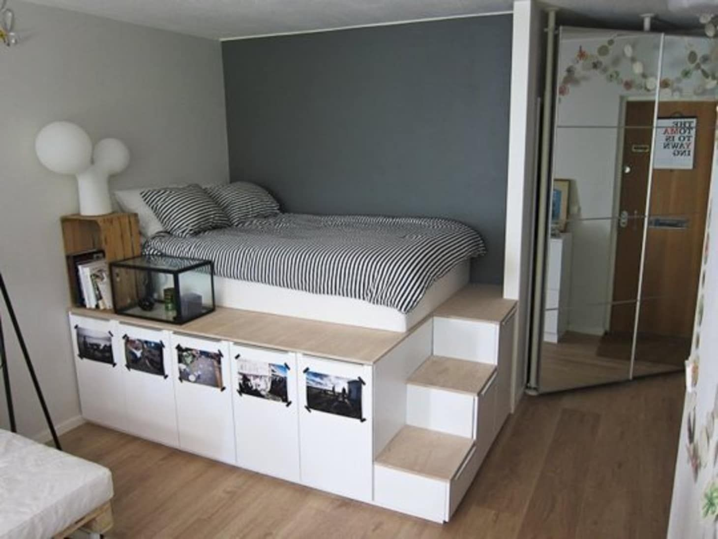 Loft bed with dresser underneath 3