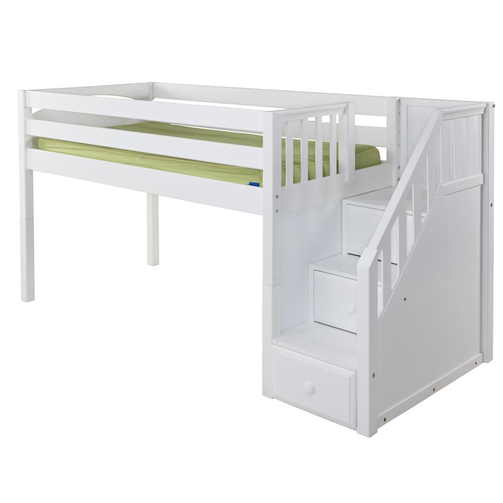 Low Twin Loft Bed 1