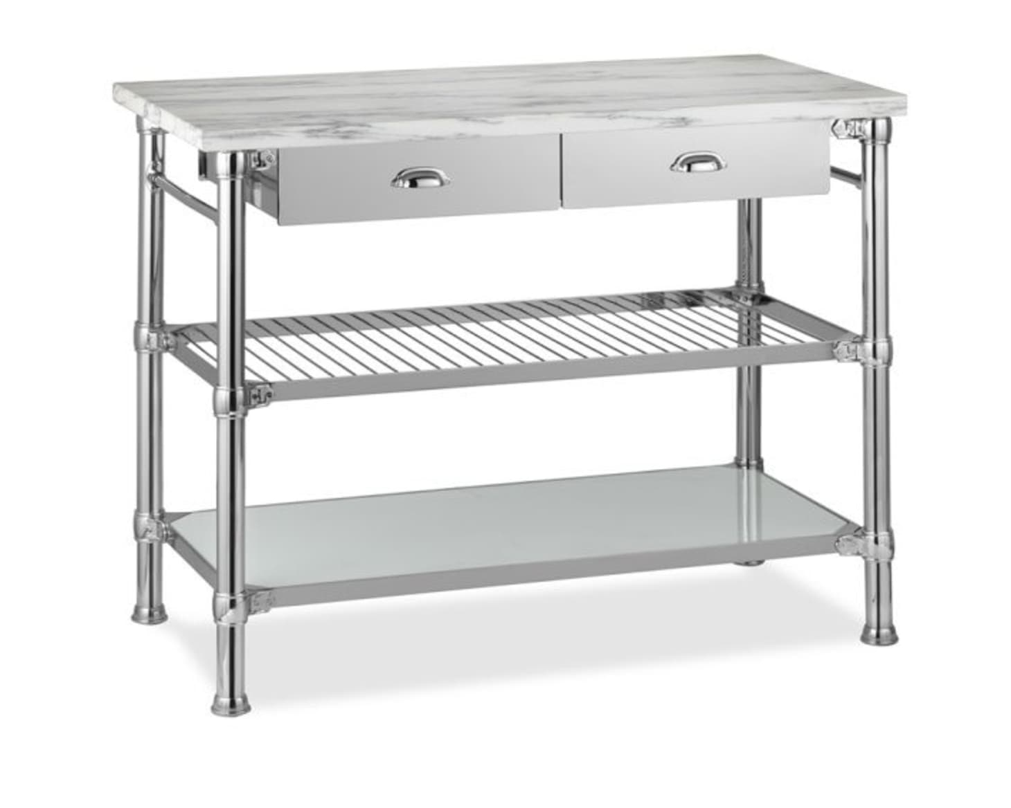 Delicieux Marble Top Kitchen Island Cart 3