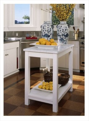 Marble Top Kitchen Island Cart - Foter