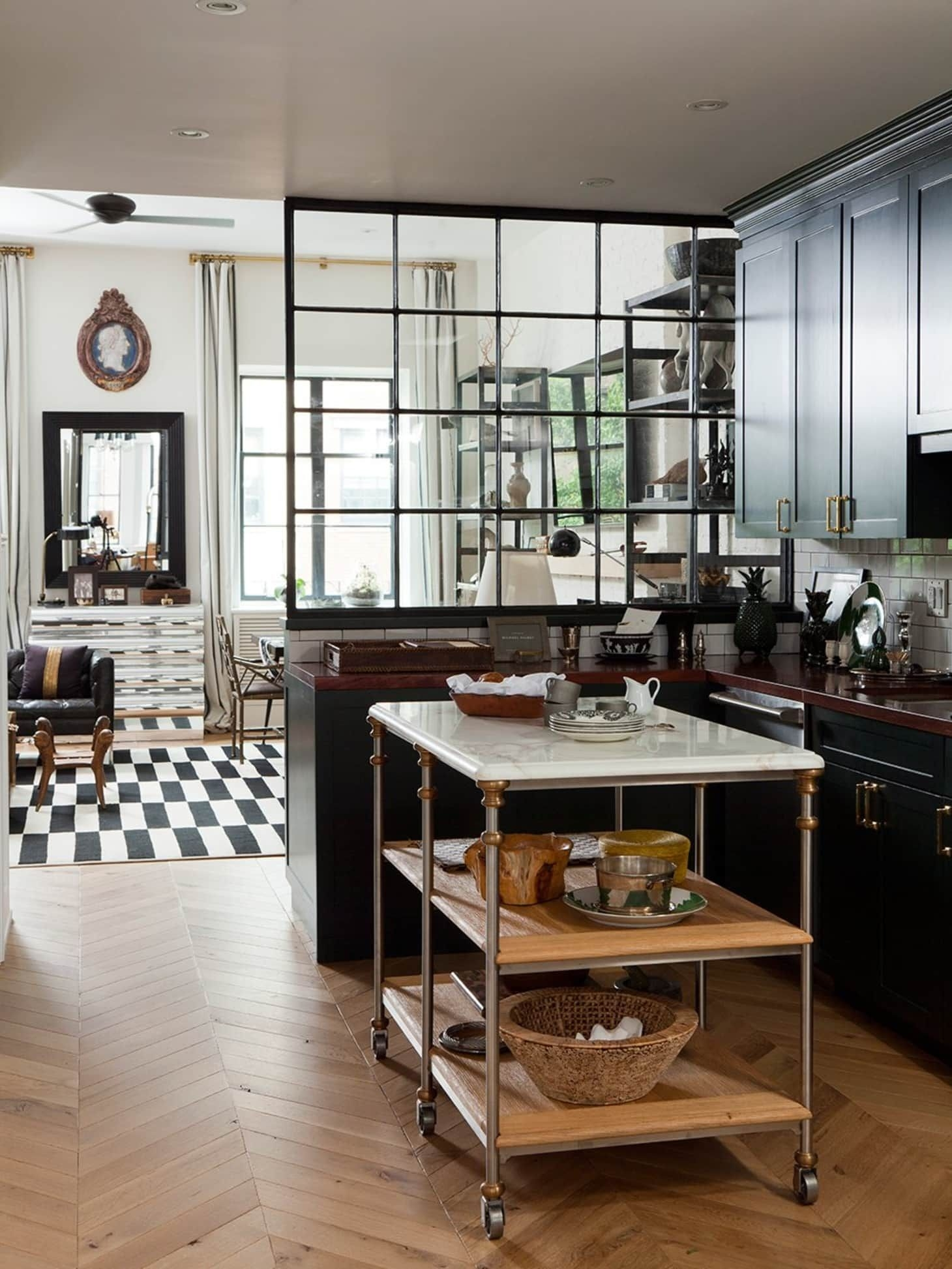 High Quality Marble Top Kitchen Island