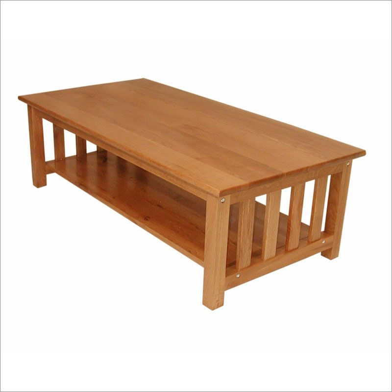 Medium Oak Coffee Table 9