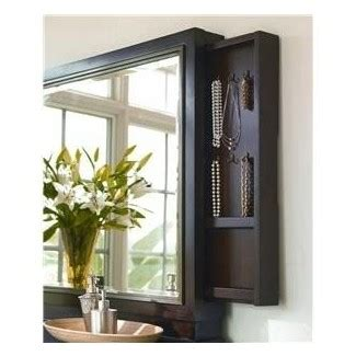 Mirror With Storage Shelves