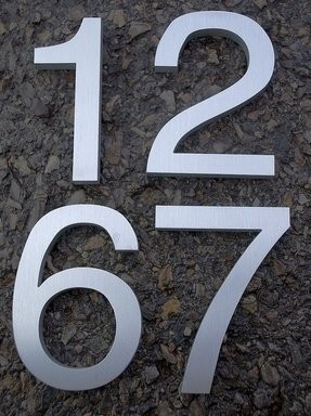 Helvetica House Numbers - Ideas on Foter