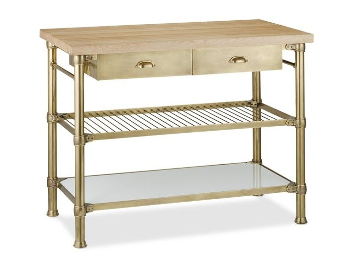 Modular Kitchen Island With Wood Top Antique Brass Would Love