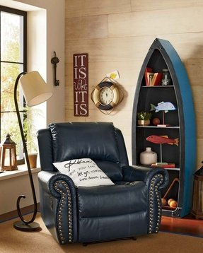 Navy blue recliner
