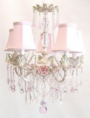 Pink chandelier for nursery foter nursery chandelier mozeypictures Image collections