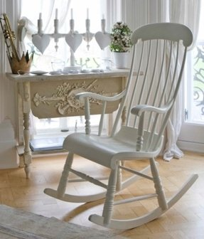 Nursery wooden rocking chair