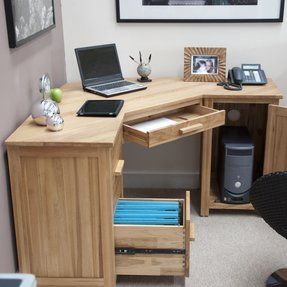 image corner computer. Oak Corner Computer Desk 1 Image S