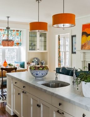 Orange Glass Lamp Foter