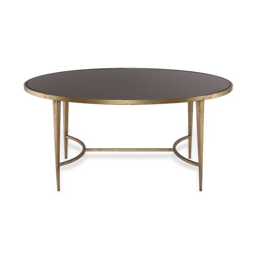 Lovely Oval Black Coffee Table 12