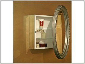 Oval medicine cabinet surface mount 2