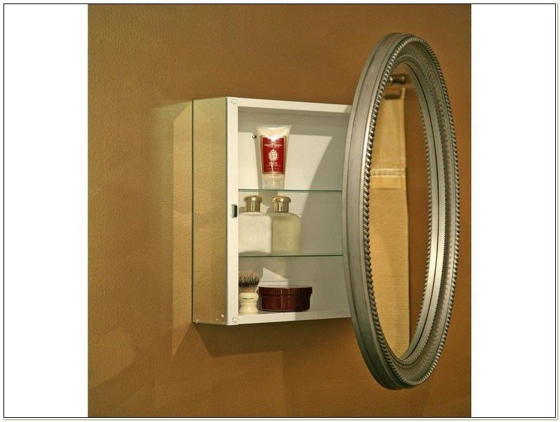 Delicieux Oval Medicine Cabinet Surface Mount 2