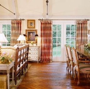 Plaid curtains and drapes 2