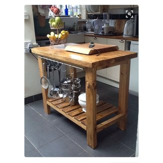 reclaimed wood kitchen island - Rustic Kitchen Island