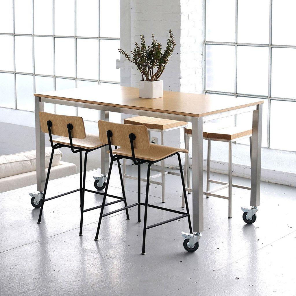 Gentil Rectangular Counter Height Table