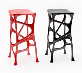 Resin bar stools 6