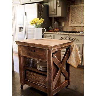 Rustic Microwave Cart - Ideas on Foter