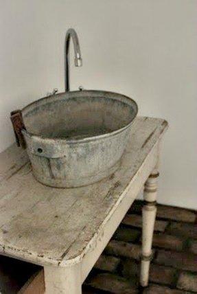 Bucket Bathroom Sink