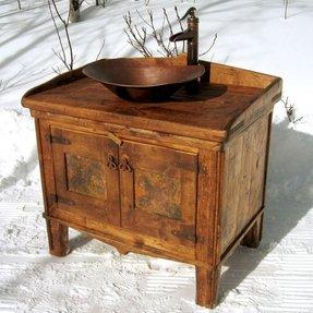 Rustic bathroom sinks foter rustic sink workwithnaturefo