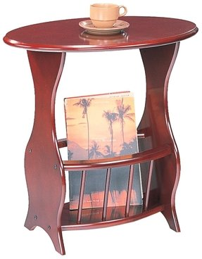 Side table with magazine rack 3