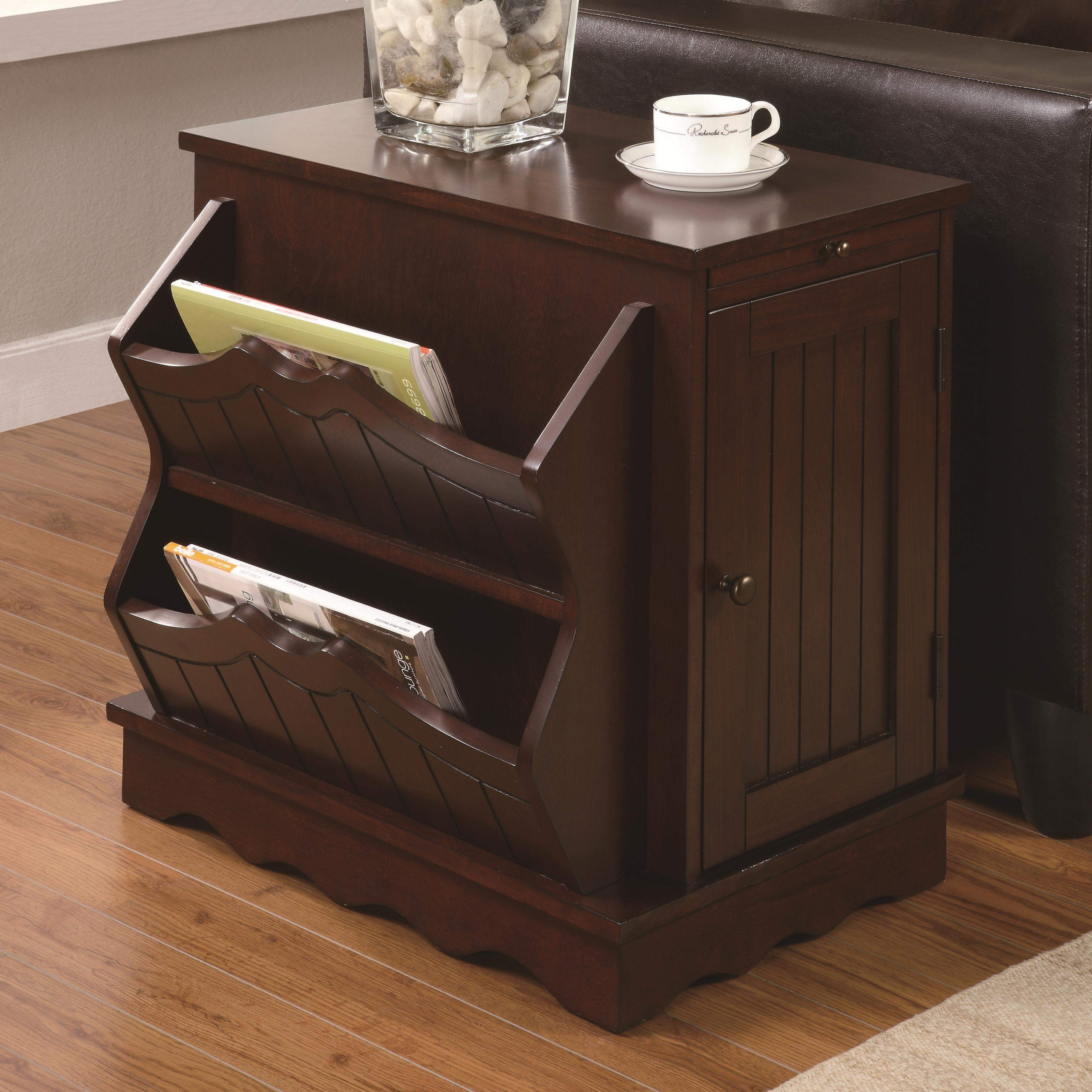 Etonnant Side Table With Magazine Rack