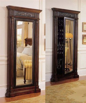 Floor Standing Mirror Jewelry Armoire - Foter